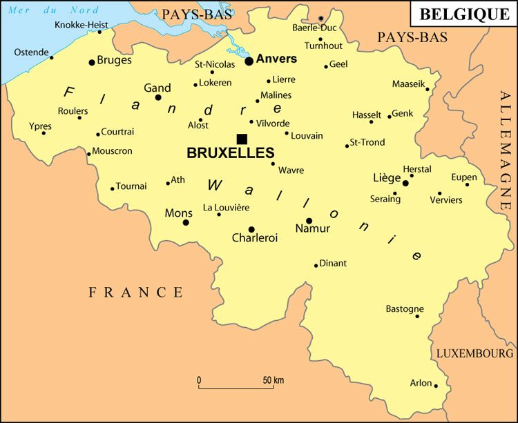 Carte Belgique Hd.Emetteur Belge